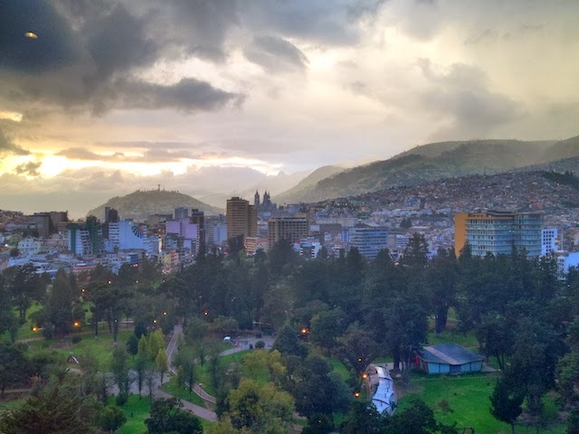 Quito City at Sunset