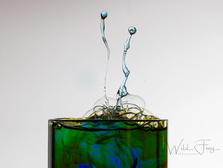 2 drop heads, waterdrop photography